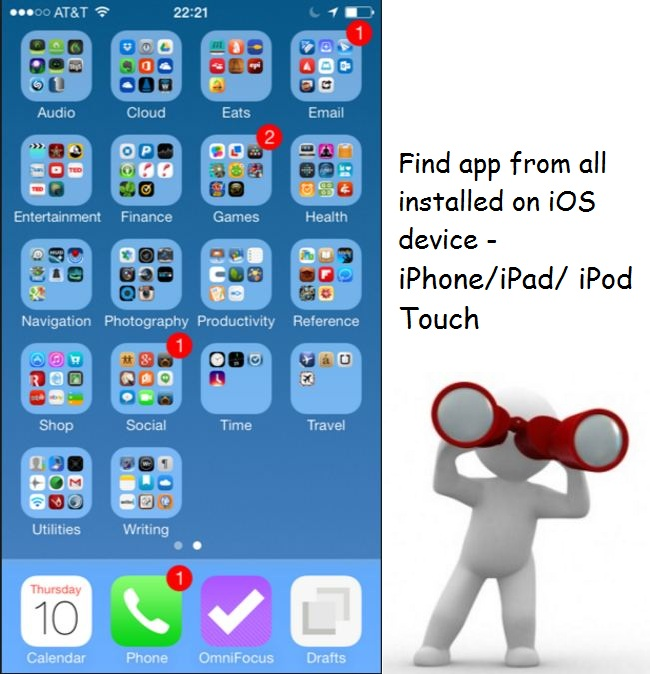 Alternate ways to find app on iphone ipad ipod home screen for Picture apps for iphone