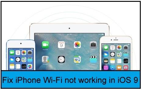 fix Wi-Fi problems in iOS 9