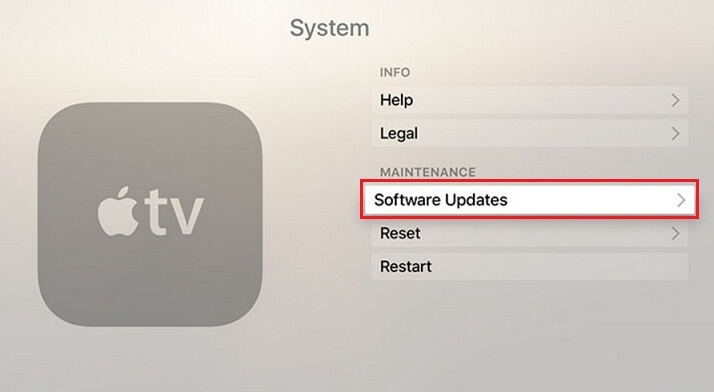 Apple TV's tvos version on Apple tv 4 software update 9.1
