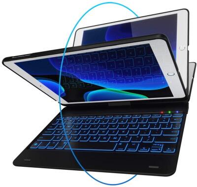 iPad Pro 9.7 Bluetooth Keyboard Case LED backlight by YEKBEE