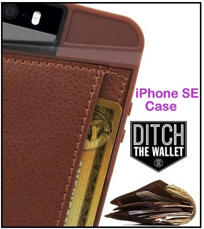 iPhone SE Q card Case- Protective Wallet Style