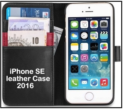 iPhone SE Flip folio leather Case