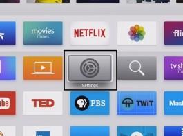setting app of apple tv 4th generation