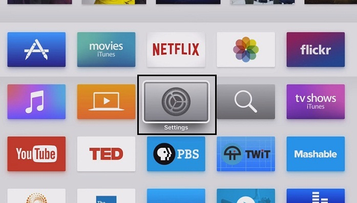 setting app of apple tv 4th generation