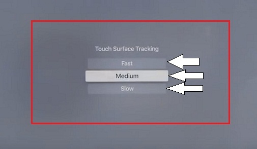 Adjust Touch sensitivity on Apple TV