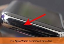 Fix apple watch scratches from steel body