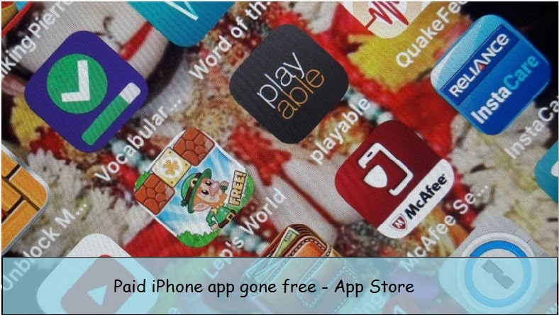 Paid iPhone app for free on App store
