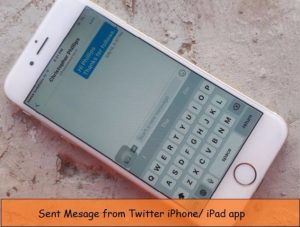 How to send direct message on Twitter iPhone, iPad app
