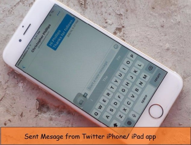 Send direct message on Twitter iPhone, iPad: iOS 9