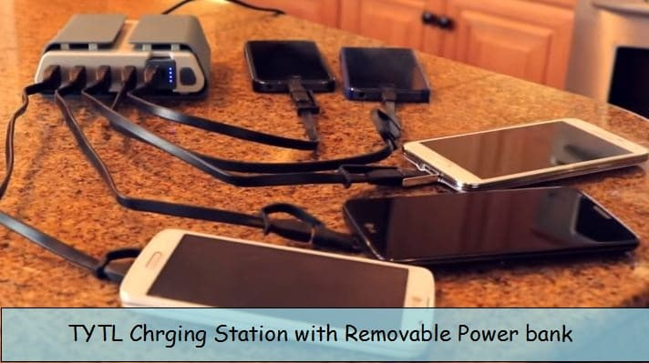 TYLT Charging station with portable battery