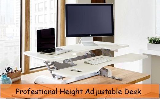 Height adjustable desk for Devices on your Height