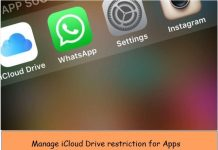 access iCloud drive from app on iPhone, iPad