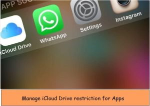 Enable/ Stop to access iCloud drive from app on iPhone, iPad