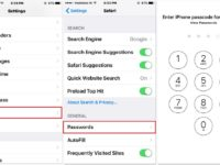 Delete saved password from safari iPhone, iPad or iPod
