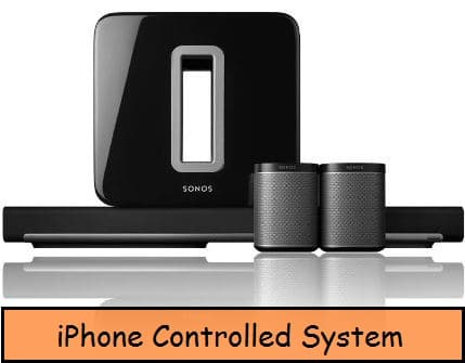 iPhone controlled home theater system for HD sound