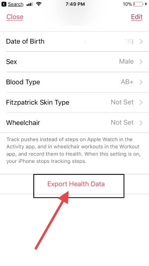 2 Export Health Data from iPhone
