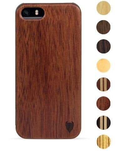Handmade iPhone SE wooden case