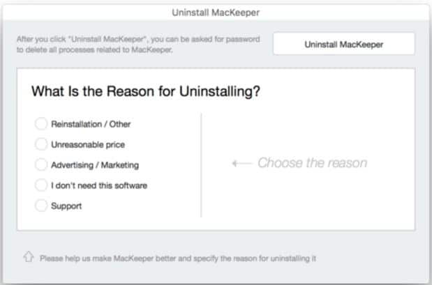 Uninstall MacKeeper from Setup