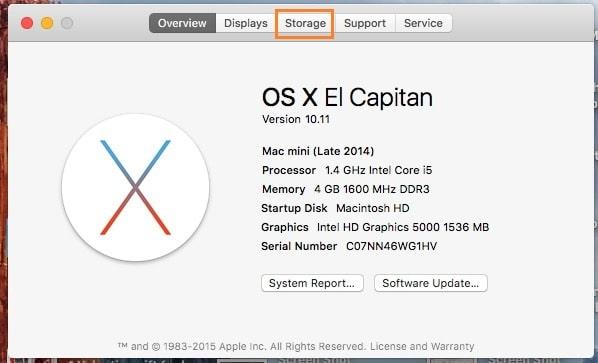 Storage space on Mac