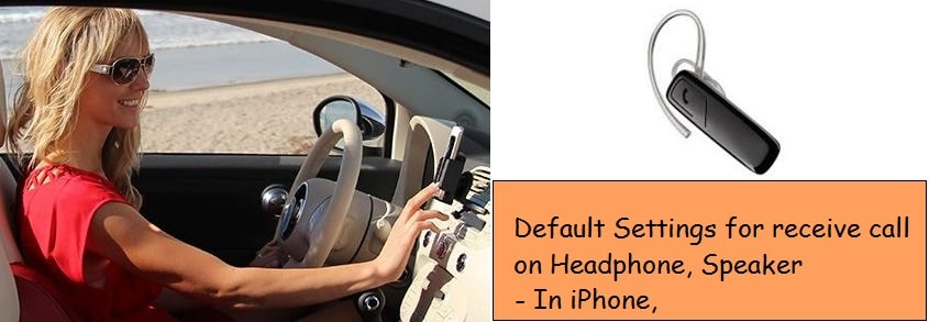 iPhone call on speakerphone, Headset in iOS 9