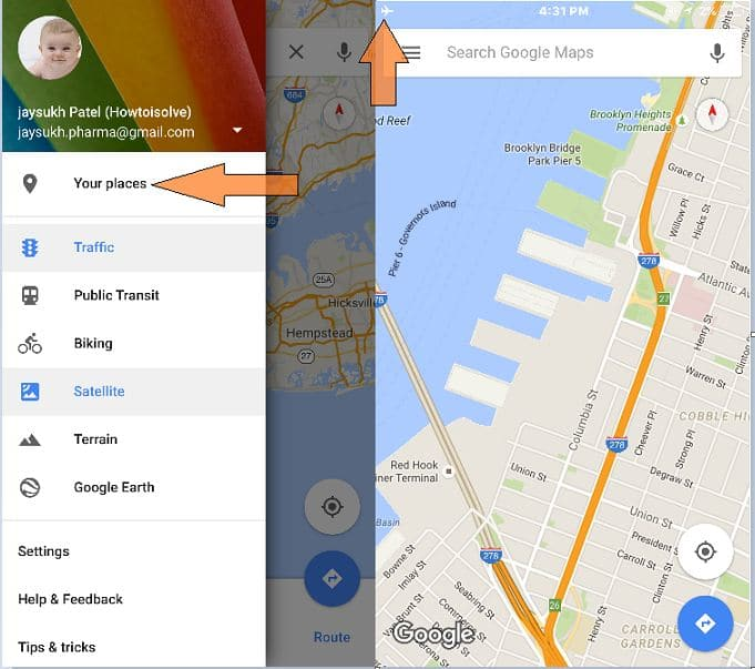 How To Use Google Maps Navigation Offline Ios On Iphone