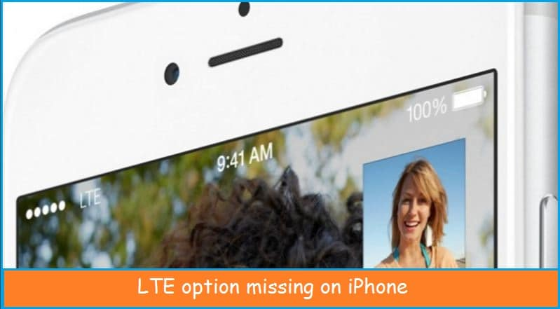 LTE option for cellular data in not available on iPhone