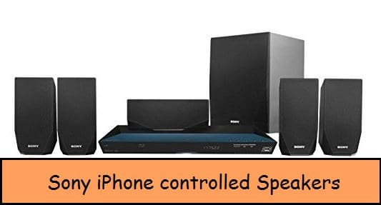 Sony iPhone controlled speaker system