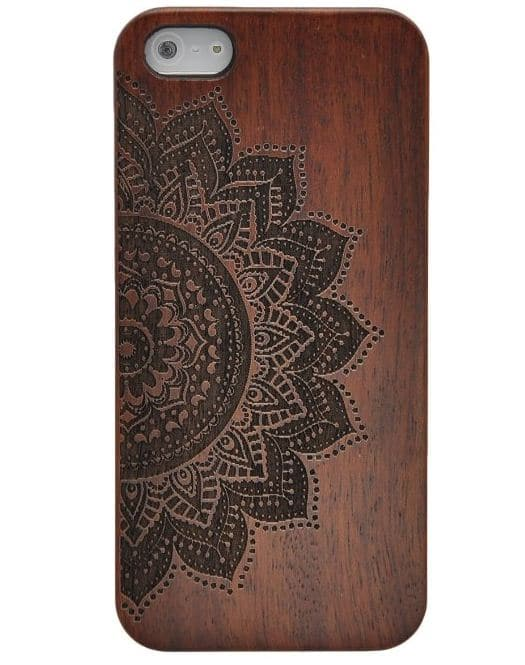 Back printed iPhone SE wooden case