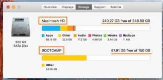 Check the storage space on Mac OS X Yosemite, Mavricks