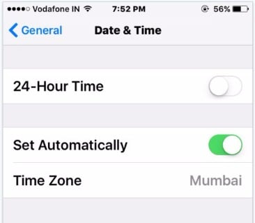 Adjust Date and Time on iPhone