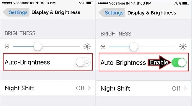 Adjust Display Brightness on iPhone SE