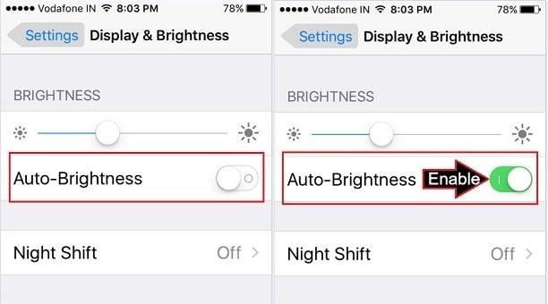 Adjust Display Brightness on iPhone SE