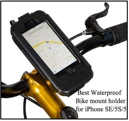 top waterproof Bike mount holder for iPhone SE 2016 4-inch screen