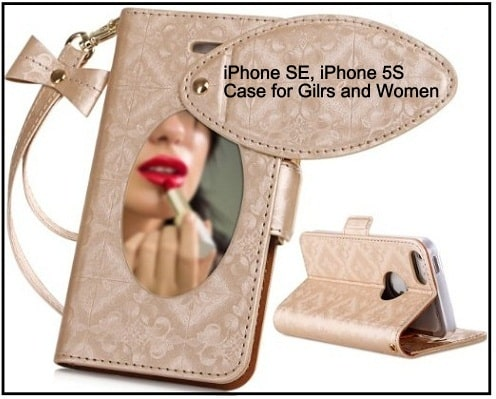 best iPhone SE makeup Case with mirror