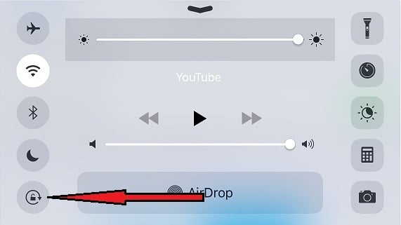 how to change screen orientation on iphone