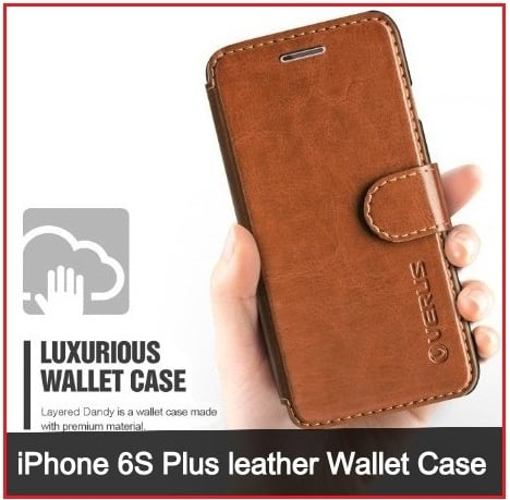 iPhone 6S Plus leather Wallet Case 2016