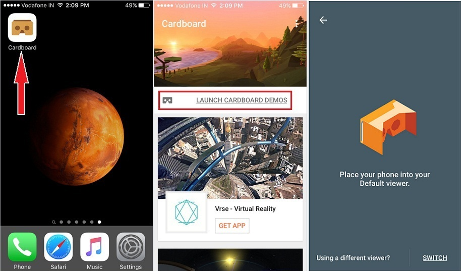 how to use Google Cardboard on iPhone to getting Virtual reality