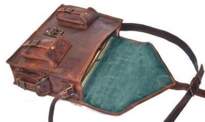 Handmade leather bag for iPad pro