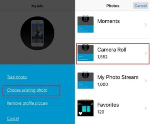 Change Skype Profile Picture on iPhone app IPad