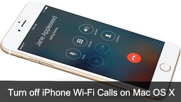 Turn off iPhone Calls on Mac OS X