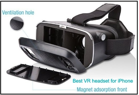 Intcrown VR headset for iPhone glasses