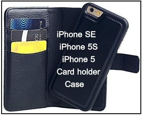 Leather Card holder Slim case for iPhone SE 2016