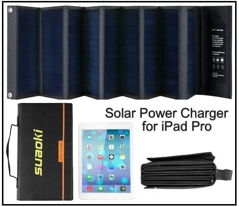 Solar Power Charger for iPad Pro 9.7'' 2016