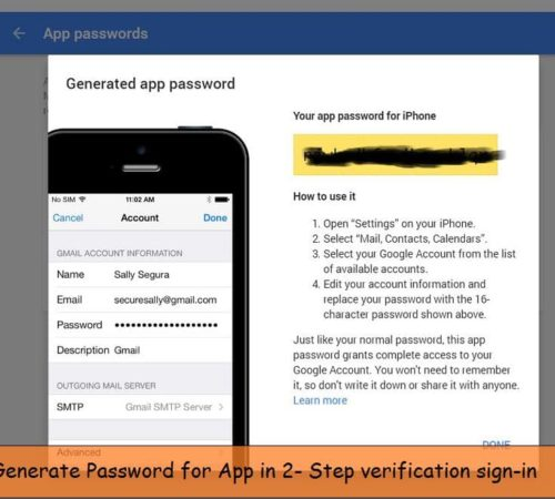 Signing in 2 step verification on iPhone iPad app