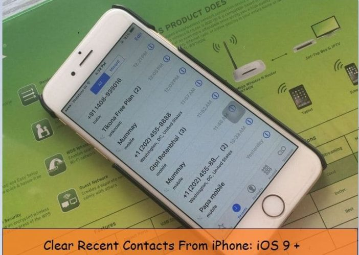 Clear recent call history on iPhone 6, 6 Plus with iOS 9/ 8