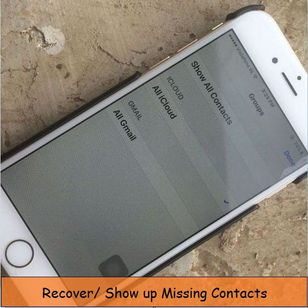 1 Disply iCloud group contacts on iPhone app