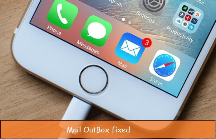 Outbox Mail stuck in iPhone, iPad