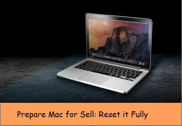 Prepare Mac for sell by erase all data