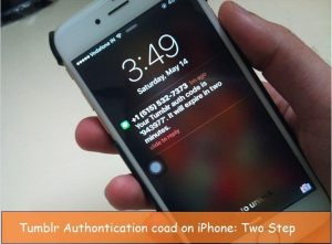 Setup and Enable Two step authentication on Tumblr iPhone app