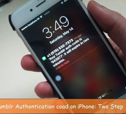 Two step authentication on Tumblr on iPhone, iPad